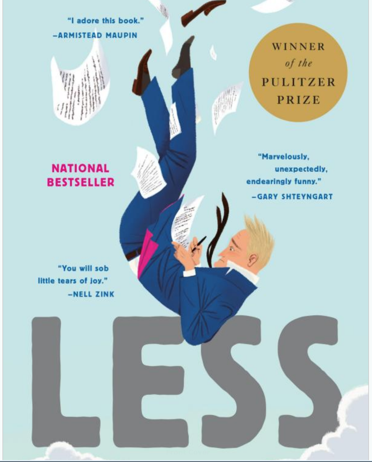 "November 2018  – Andrew Sean Greer, ""Less"""