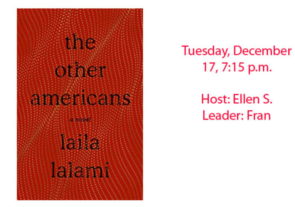 Book Club December 2019 - The Other Americans, Laila Lalami